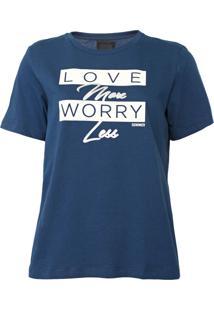 Camiseta Sommer Lettering Azul - Kanui