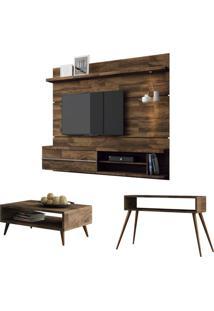 Painel Tv Épic Com Mesa De Centro Lucy E Aparador Quad Deck Hb Móveis