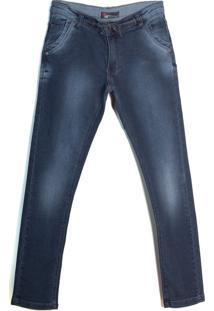 Calça Jeans Infantil Oznes Menino Azul Escuro - 10