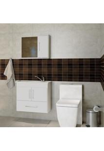 Gabinete De Banheiro Atenas Com Espelho - Branco - Mgm