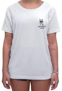 Camiseta Impermanence Estampada Llama Feminina - Feminino-Branco