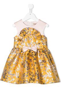 Hucklebones London Vestido Jacquard Floral - Amarelo