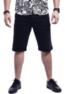 Bermuda Masculina Jeans Voox - Masculino-Preto