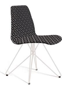 Cadeira De Jantar Eames Butterfly Preta E Cinza