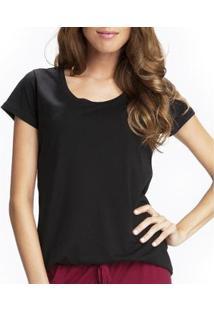 Camiseta Liz Easywear Manga Curta Feminina - Feminino-Preto