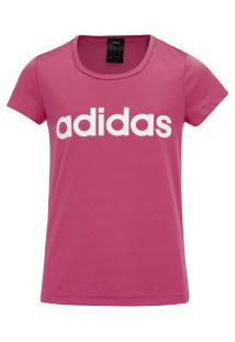 Camiseta Adidas Yg Cf Feminina - Infantil - Rosa