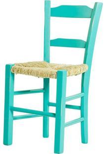 Cadeira Lagiana Pequena Eucaliptoturquesa Palha - 31282 - Sun House