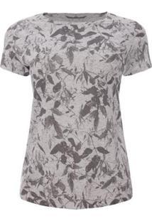 Camiseta Aleatory Feminina Botonê Spring - Feminino-Cinza
