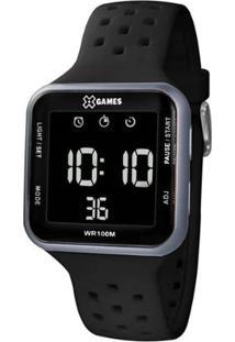 Relógio Masculino X Games Retangular Digital Xgppd - Unissex-Preto