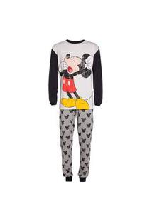 Pijama Hering Família Mickey And Friends Branco