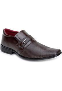 Sapato Social Em Sintetico Snapshoes Masculino - Masculino-Marrom