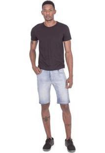 Bermuda Fatal Jeans Slim Confort Fit Azul Masculino - Masculino-Azul