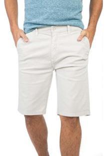 Bermuda Flex Taco Masculina - Masculino-Off White