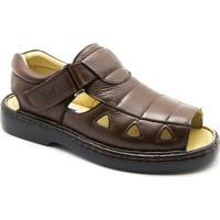 21e7e31550 Sandália Masculina 303 Em Couro Floater Doctor Shoes - Masculino-Café