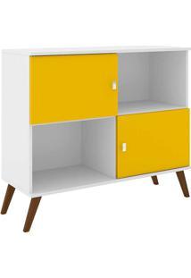 Rack Retrô Rt3011 - Movelbento - Branco / Amarelo