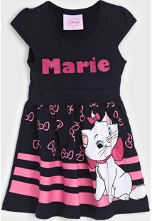 Vestido Tricae Infantil Marie Azul-Marinho