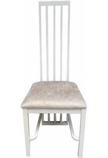 Cadeira Palito Alta Em Madeira Maciça Com Pinturas E Tecidos Personalizáveis