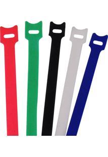 Abraçadeira De Velcro Brasfort Autofixavel 12Mm X 150Mm 5 Peças Colorido