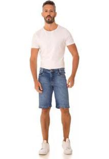 Bermuda Jeans Express Distrito - Masculino-Azul