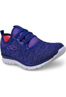 Tenis Fem Olympikus Kiss 330 Cobalto/Coral