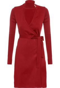 Vestido Tricô Daiane - Vermelho