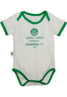"""Body Reve D'Or Sport Nasci Lindo..."""" Palmeiras Branca E Verde"""" - Kanui"""