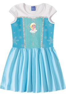 Vestido Evasê Disney Frozen® Menina Malwee Kids