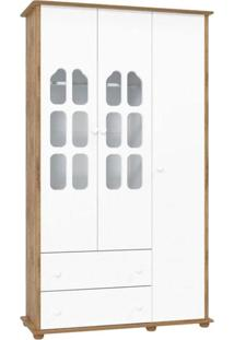 Guarda Roupa Infantil Amore 3 Portas Branco Acetinado Teka Touch – Matic