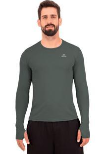 Camisa Muvin Running Performance G1 Uv50 Ls/Hc Muvin Cinza
