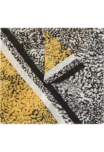 Escada Echarpe Com Estampa Abstrata - Amarelo