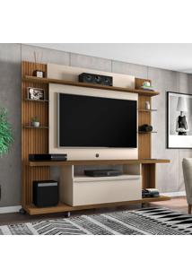 Estante Para Home Theater E Tv Até 50 Polegadas New Torino Cinamomo E Off White