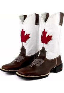 Bota Texana Canada Bico Quadrado Ramon Boots Marrom