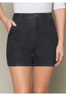 Shorts Jeans Com Elastano Azul