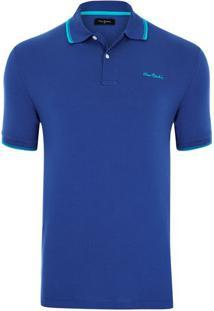 Polo Piquet New Classic Azul