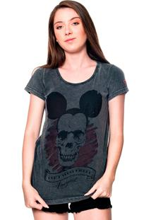 Camiseta Estonada Skull Mouse Useliverpool Preta