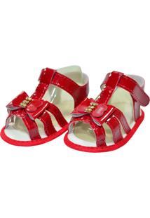 Sandália Verniz Sapatinhos Baby Vermelha