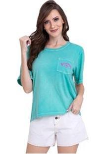 Camiseta Feminina Billabong Beach Comber Verde Cl - Feminino-Verde
