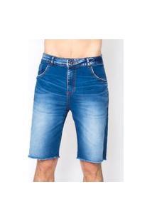 Bermuda Jeans Masculina Frayed Bar