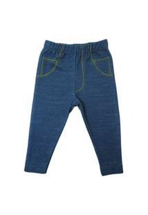 Calça Mijão Bebê Jeans Algodão Delicado Conforto Casual Jeans P Azul