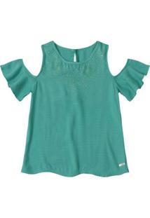 Blusa Infantil Marisol Feminina - Feminino-Verde