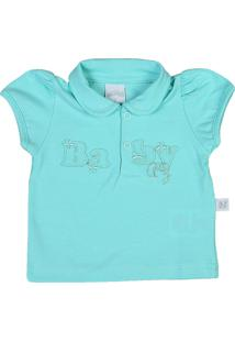 Camiseta Ano Zero Bebê Pólo Malha Cotton Baby -Verde M