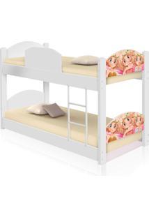 Beliche Infantil Fadinhas Coloridas Com 2 Colchões Casah