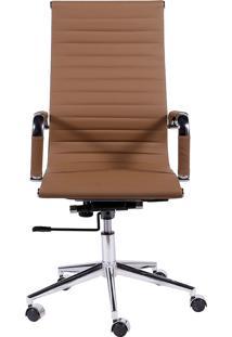 Cadeira De Escritório Esteirinha Alta - Caramelo