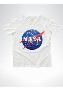 Camiseta Ampla Feminina Geek Cool Tees Nasa Vintage Mescla