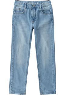 Calça Jeans Skinny Estonada Menino Malwee Teen