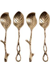 Conjunto Com 4 Colheres Para Sobremesa De Metal Pádua