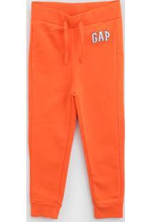 Calça Gap Infantil Logo Laranja
