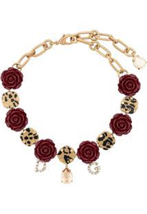 Dolce & Gabbana Colar De Rosas - Dourado