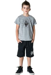 Bermuda Infantil Comfy Rock And Roll Masculino - Masculino