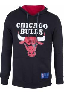Casaco Moletom Chicago Bulls Canguru Logo - Nba - Kanui